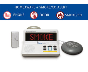 The HomeAware Starter Kit + (with built-in Smoke/CO listener  Doorbell  and Bed Shaker)