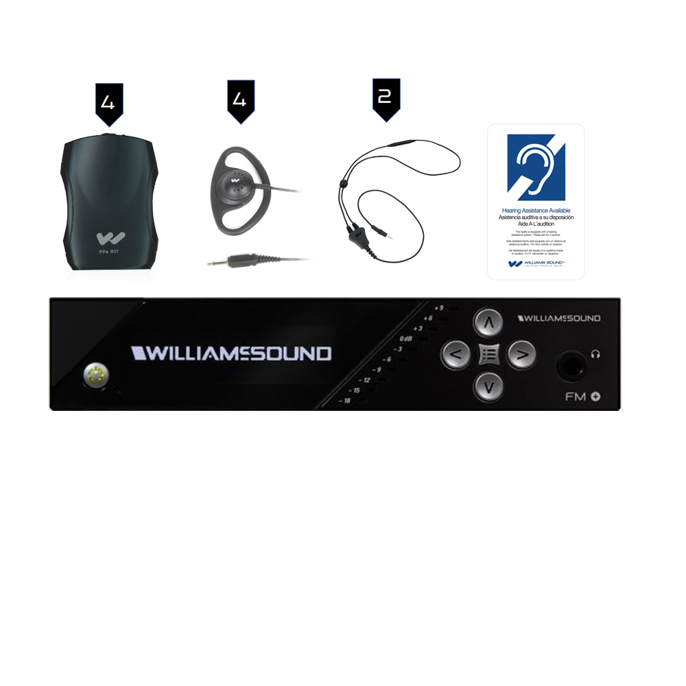 Williams Sound FM Plus Large-area Dual FM and Wi-Fi Assistive Listening System