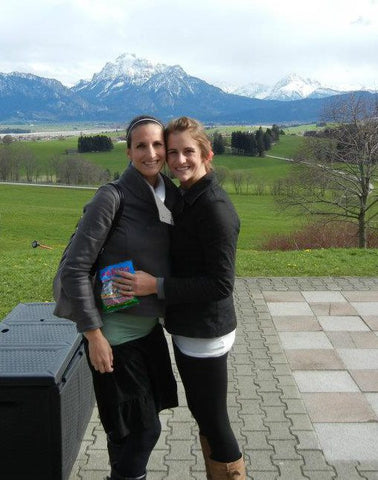 P.S. I am very pregnant here - and these are the Swiss Alps
