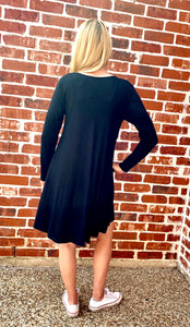 Long Sleeve Swing Dress