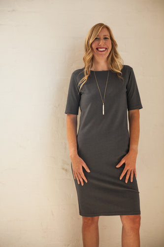 Grey Sheath Dress
