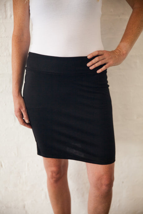 Ethically Produced Black Pencil Skirt