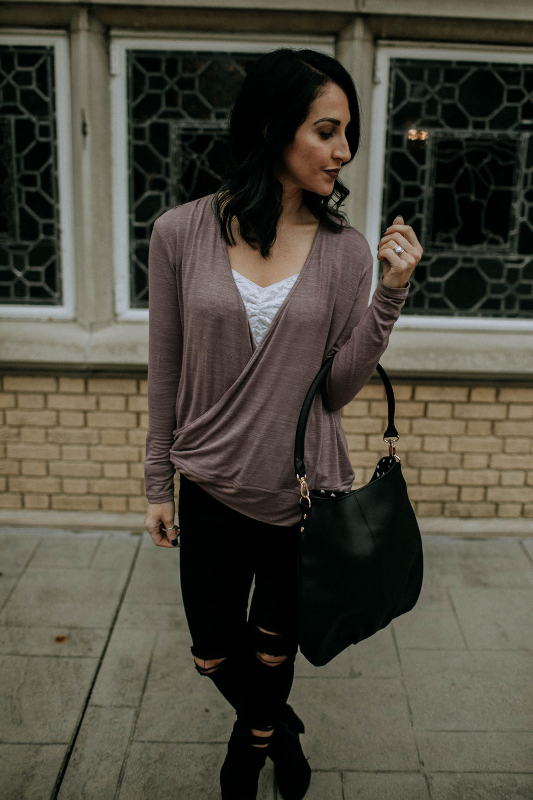 Faux-Wrap Shirt