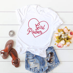 "Short Sleeve ""Girl Power"" T-Shirt"