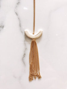 U-Shaped Tassle Pendant