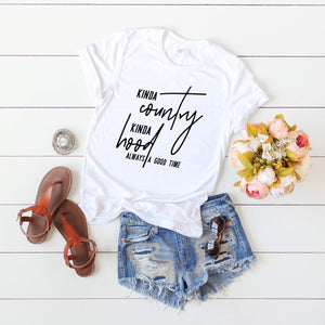 'Kinda Country Kinda Hood' T-shirt