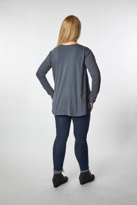 Charcoal Grey Swing Top