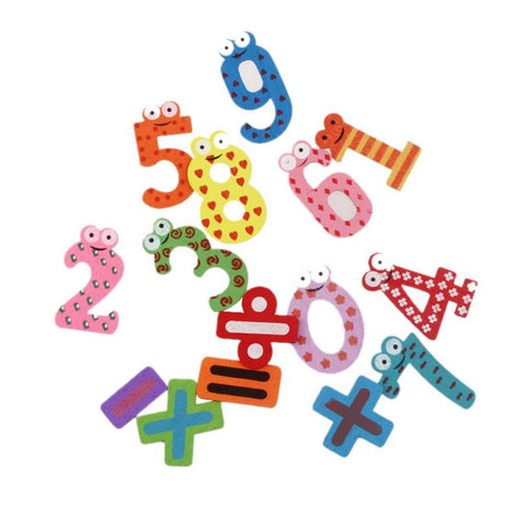Early Learning Wooden Math Fridge Magnets