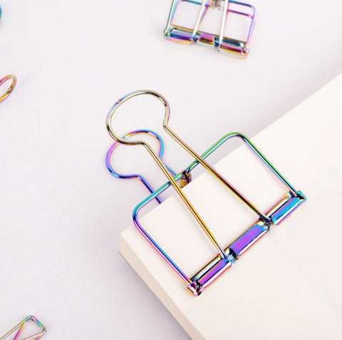 Metallic Binder Clips, 10Pcs