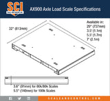 Intercomp AX900 Axle Load Scale spec chart