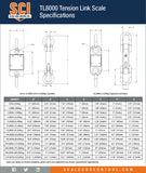 Intercomp TL8000 Tension Link Scale Spec Chart