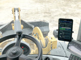 Samsung Galaxy Tablet Active 2 with WLS555 screen on wheel loader