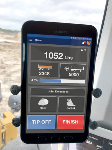 WLS555 Onboard Weighing System Tablet Display