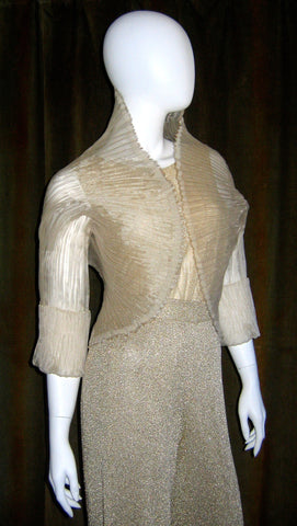 Crescent Pleat Bolero