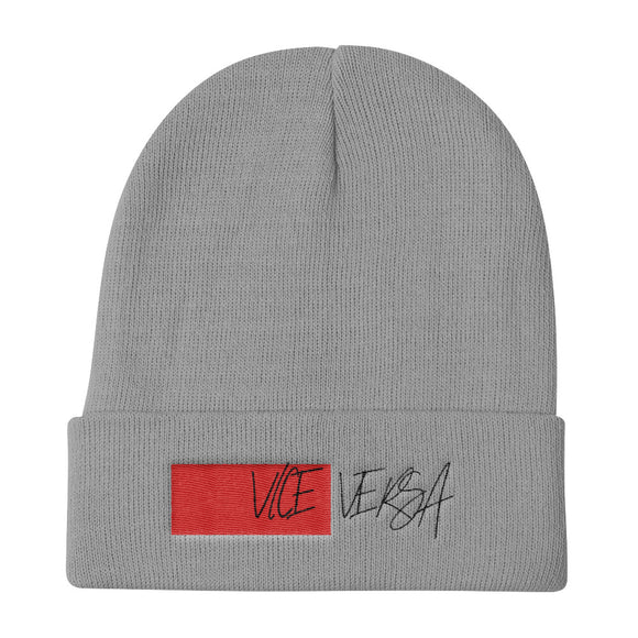 Vice Versa Red Knit Beanie