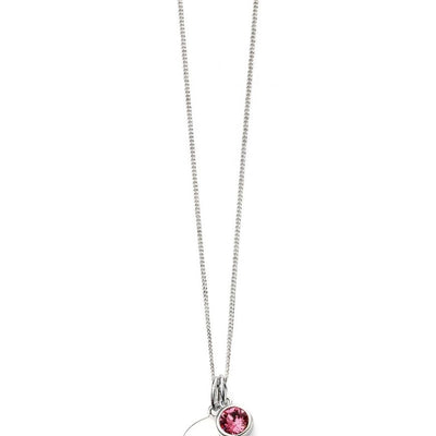 October Birthstone Pendant - Rose