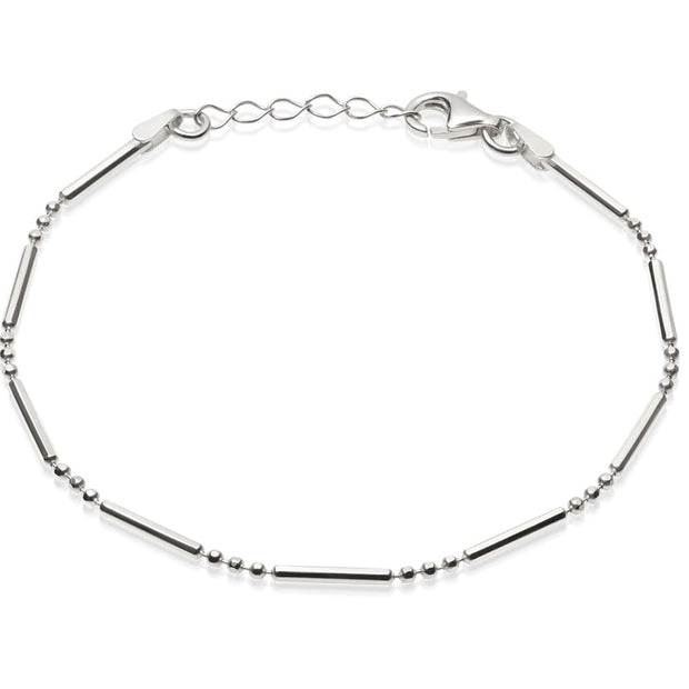 Stacked Sterling Silver Essential Bracelet