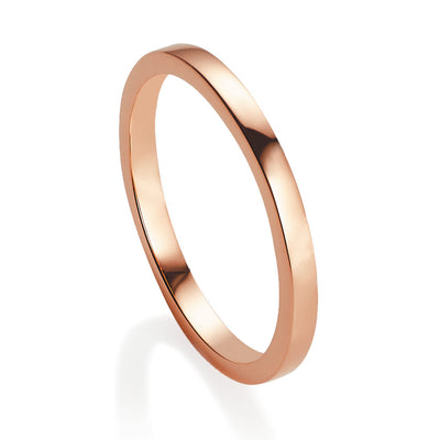 Viva Rose gold stacking ring - size L