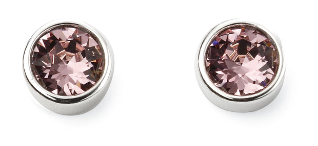 June Birthstone Studs - Light Amethyst Swarovski