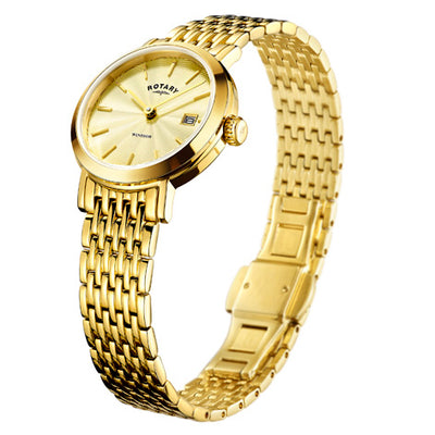 Rotary Ladies gold plated Windsor watch