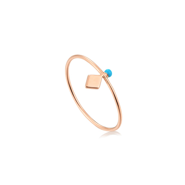 Ania Haie Connect the Dots Turquoise stud ring
