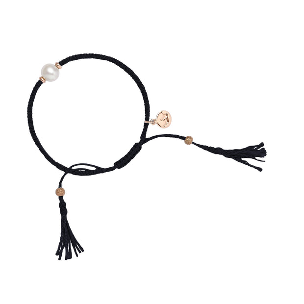 Crown Tassle Bracelet - Black