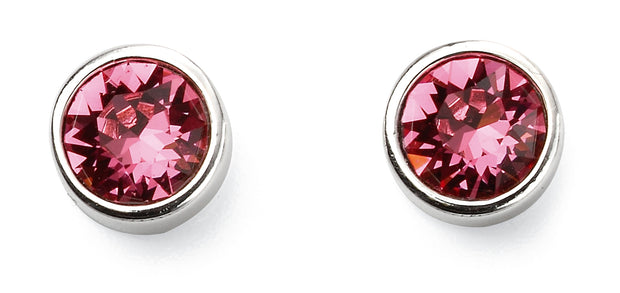 October Birthstone Studs - Rose