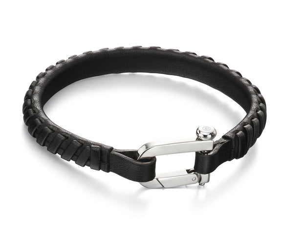 Fred Bennett Leather weaved bracelet