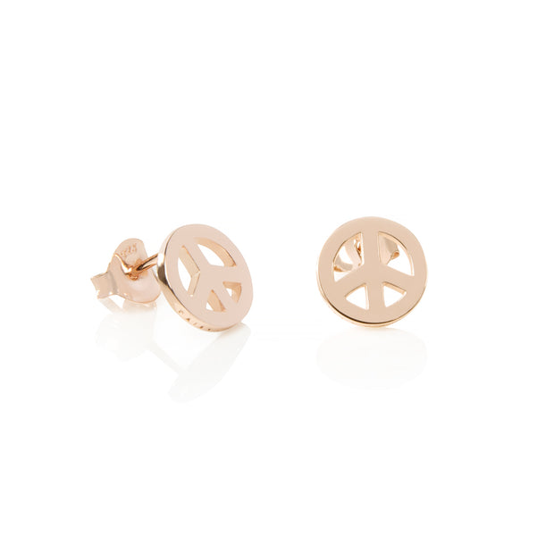 Daisy Peace Sign Good Karma Studs