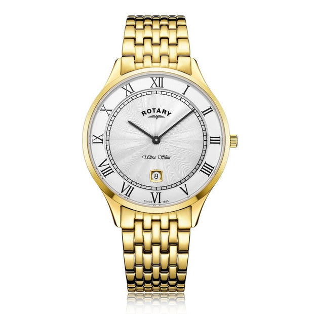 Rotary Ultra Slim Gold Plate Watch