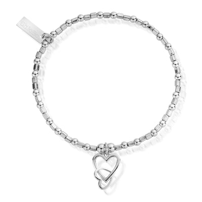 Interlocking love heart bracelet