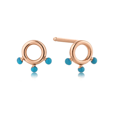 Ania Haie Connect the Dots Turquoise circle Earrings