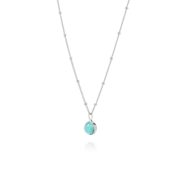 Amazonite Healing Stone Sterling Silver Necklace - Daisy London
