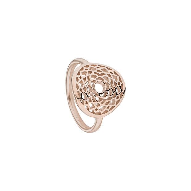 Crown Chakra Rose Gold Ring - Daisy London