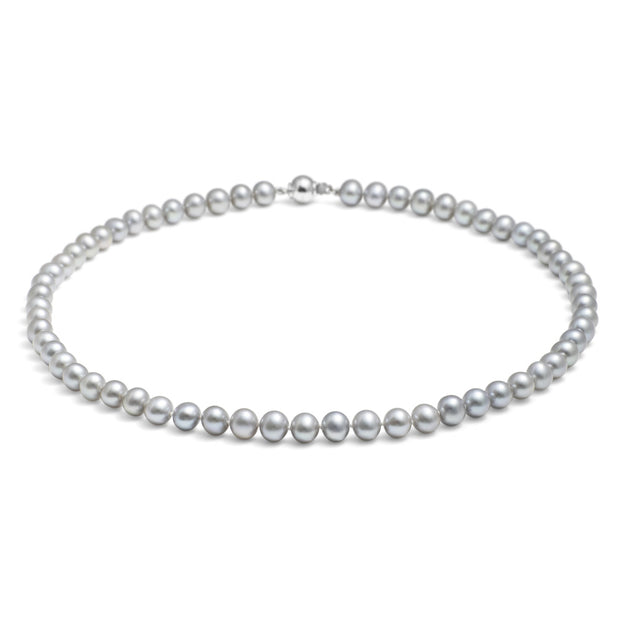 "Classic 18"" Necklace 7-7.5mm Silver pearls"