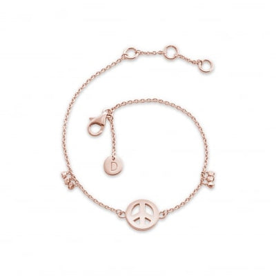 Daisy Rose Gold Peace Good Karma Bracelet