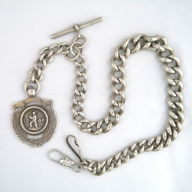 V39 90cm Silver Watch Chain