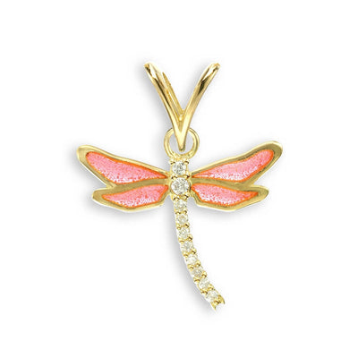 Nicole Barr 18ct gold Butterfly Pendant with Diamonds