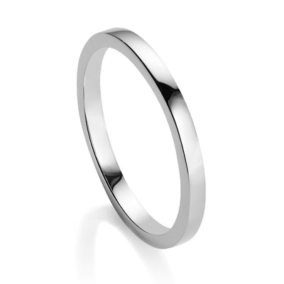 Viva Silver stacking ring - size N