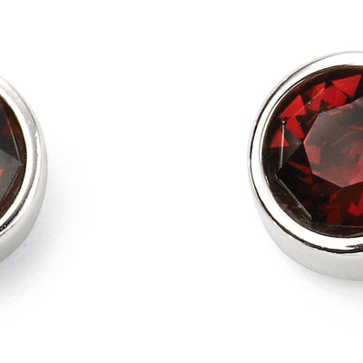 January Birthstone Studs - Burgundy