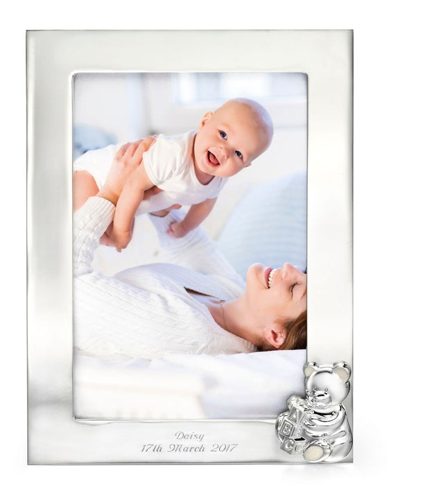 D for Diamond Teddy Bear picture frame