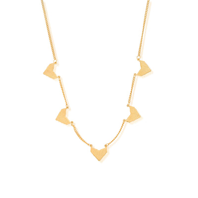 SALE  ChloBo Gold multi arrow necklace