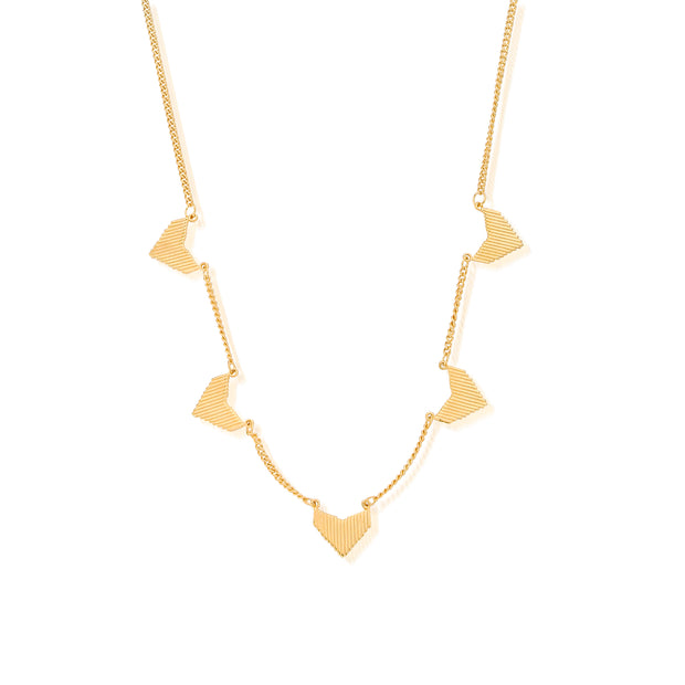 SALE Multi Arrow Gold Plate Necklace - ChloBo
