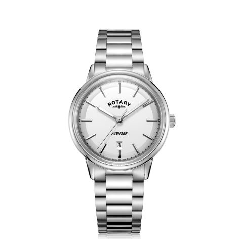 Rotary White Avenger Gents Watch