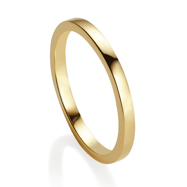 Viva yellow gold stacking ring - size L