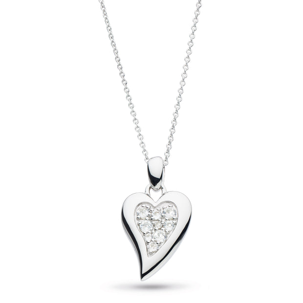 Desire precious Topaz Big Heart Necklace 22""