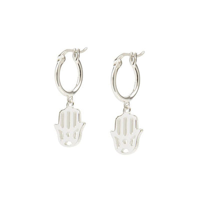 Daisy Hand of Fatima Good karma Drop Earrings