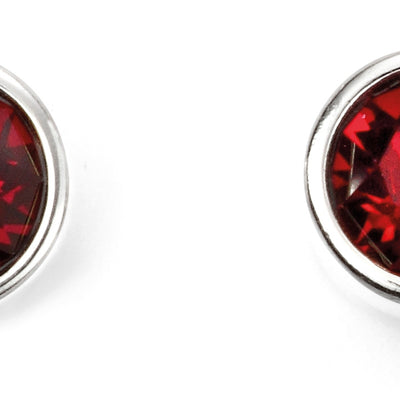 July Birthstone Studs - Ruby Swarovski