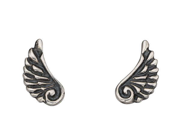 Children's Sterling angel wing Stud - Penmans