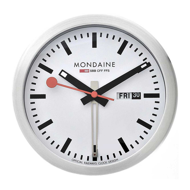 Mondaine Mini Desk or Wall Alarm Clock A993.MCAL.16SBB